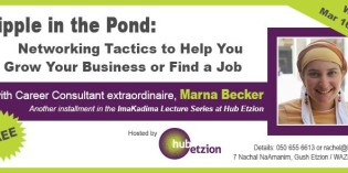 ImaKadima Event: A Ripple in the Pond with Marna Becker