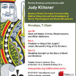 Pardes Tonight: Judy Klitsner,' Absolute Power Corrupts Incrementally'