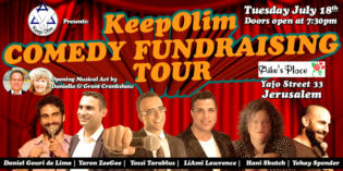 Come to a Night of Kosher Laughs and support KeepOlim!