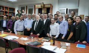 Ha'Rav Hershel Schachter visits our Smichat Chaver Programme – 'What A Merit To Spend Your Evenings Learning Torah'