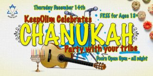 Celebrating Hanukkah with Keep Olim!