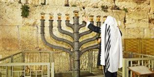 Hanukkah Lighting at the Kotel