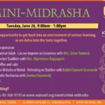 MINI TUESDAY MIDRASHA FOR WOMEN – At OU Center