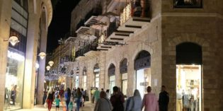 Mamilla Hanukkah lighting